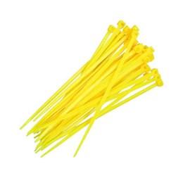 Abraçadeira Nylon 15 cm 3.7 Amarela 100 Pc [ F7015UVAM100 ] - Frontec
