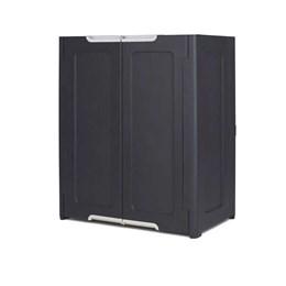 Armario 1 Prateleira Duas Portas Preto PVC [ 17205249 ] - Keter