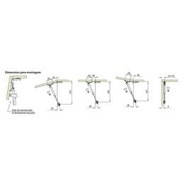 Articulador a Gás com Amortecedor para Porta 6KG Cinza [ 595KFG0606X050 ] - FGVTN