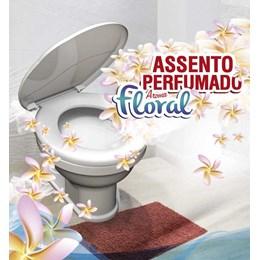 Assento Sanitário Branco Almofadado Floral [ 00752 ] - Durin