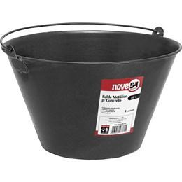 Balde Concreto Metal    Preto   10 Lt [ 3315400100 ] - Nove 54