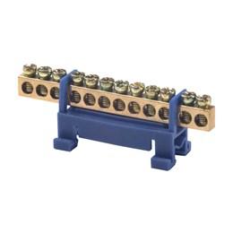 Barramento Neutro 12 Furos 16mm com Base Azul [ 7881112 ] - Rohdina