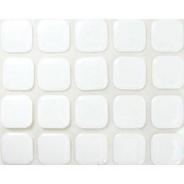 Batente para Porta Adesivo 20 mm Quadrado Branco 20 Pcs [ 000088 ] - Resiflex