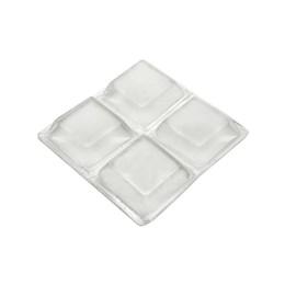 Batente para Porta Adesivo 20MM Quadrado Transparente 8 Peças [ R0044TR ] - Hardt