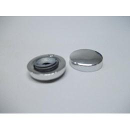 Botão Para Espelho Zamac Cromado Rosca Int. - Base