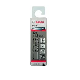 Broca de Aço Rápido 1.5MM Estojo com 10 Peças [ 2608595050 ] - Bosch