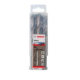 Broca de Aço Rápido 11.0MM Estojo com 5 Peças - Bosch