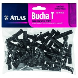 Bucha T para Rodapé com 30 Pcs [ AT11025 ] - Atlas