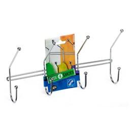 Cabide 4 Ganchos Cromado para Portas e Paredes  270X65X133 Duplo MM [ 1019 ] - Arthi
