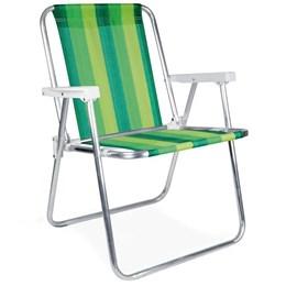 Cadeira de Praia Alumínio Alta [ 2101 ] - Mor