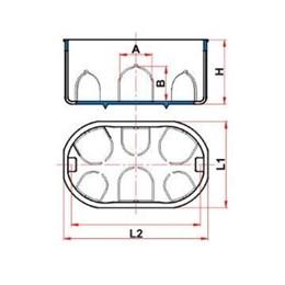 Caixa Luz Plástica 4 X 2 DryFix [ 12139 ] - Tigre
