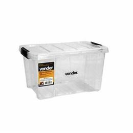Caixa Plástica Organizador Transparente 15 Kg [ 6105000015 ] - Vonder