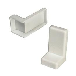 Cantoneira Zincada Revest. Pvc Kit 2Pç Branco [ P-447/5280 ] - Sas Plastic