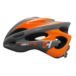 Capacete Bike MTB New Tamanho M com Luz Cinza/Laranja [ HOCAP0189 ] High One