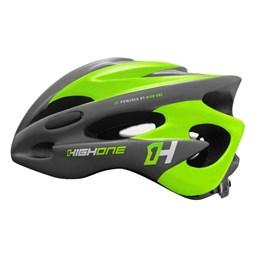 Capacete Bike MTB New Tamanho M com Luz Cinza/Verde [ HOCAP0192 ] High One