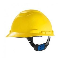 Capacete de Segurança com Carneira Ajuste Facil e Jugular Amarelo [ HB004570899 ] - 3M