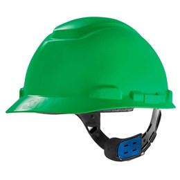 Capacete de Segurança com Carneira Ajuste Facil e Jugular Verde [ HB004570949 ] - 3M