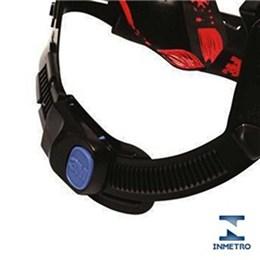 Capacete de Segurança com Carneira Ajuste Facil e Jugular Vermelho [ HB004571210 ] - 3M