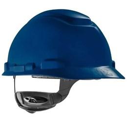 Capacete de Segurança com Carneira Catraca e Jugular Azul [ H700 ] - 3M