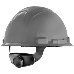 Capacete de Segurança com Carneira Catraca e Jugular [ H700 ] Cinza - 3M