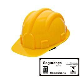 Capacete de Segurança com Carneira Simples Amarelo [ WPS0873 ] - Delta Plus