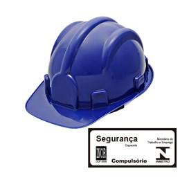 Capacete de Segurança com Carneira Simples Azul Escuro [ WPS0871 ] - Delta Plus