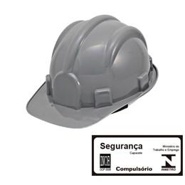 Capacete de Segurança com Carneira Simples Cinza [ WPS0877 ] - Delta Plus