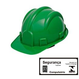 Capacete de Segurança com Carneira Simples Verde [ WPS0874 ] - Delta Plus