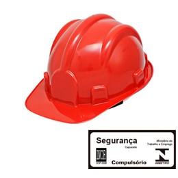 Capacete de Segurança com Carneira Simples Vermelho [ WPS0876 ] - Delta Plus