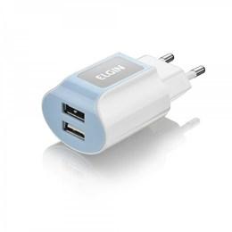 Carregador Parede 2 USB Universal Branco [ 46RCT2USB000 ] - Elgin