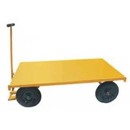 Carrinho 4 Rodas Plataforma de Chapa Ferro 600 Kg [ MP-600A ] - Lynus