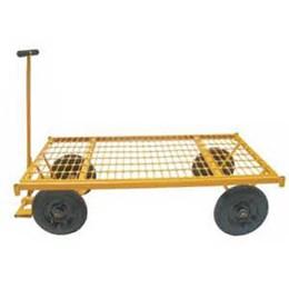 Carrinho 4 Rodas Plataforma Grade Ferro 600 Kg [ MP-600G ] - Lynus