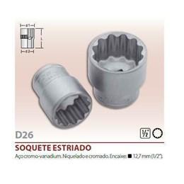 Chave Soquete Estriada-  5/8      Encaixe 1/2 [ 060 056 ] - Robust