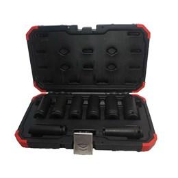 Chave Soquete Impacto Jogo 12 a 23mm Encaixe 1/2 8 Peças  [ R63003108 ] - Gedore Red