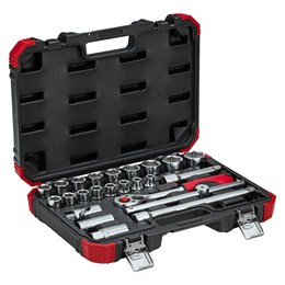 Chave Soquete Jogo 10 a 32mm Encaixe 1/2  24Pc [ R69003024 ] - Gedore Red