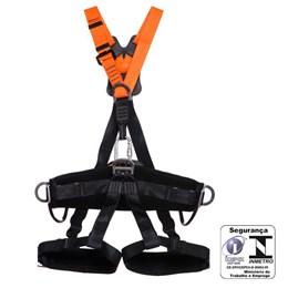 Cinto Paraquedista Abdominal 5 Pontos de Ancoragem com Regulagem Total Engate Rápido [ MULT2012A ] - MG Cinto