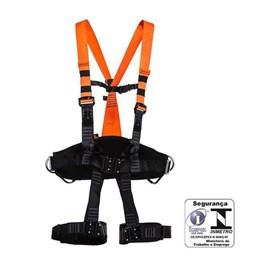 Cinto Paraquedista Abdominal Eletricista 4 Pontos de Ancoragem Engate Rápido [ MULT1891E ] - MG Cinto