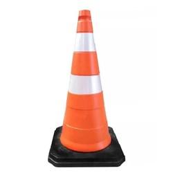 Cone de Segurança Laranja/Branco 75cm Com Base [ 600.31342 ] - Plastcor