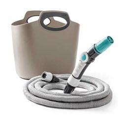 Conjunto Irrigação Aquapop com Mangueira Extensível 15MT cinza  [ 151412008 ] - Kadox