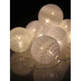 Cordão Luminoso 10 LED´s Esfera Branca 3000K 1.5M a Pilha [ 14010216-17 ] - Taschibra