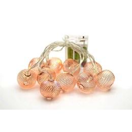 Cordão Luminoso 10 LED´s Rose Gold 3000K 1.5M a Pilha [ 14010220-17 ] - Taschibra