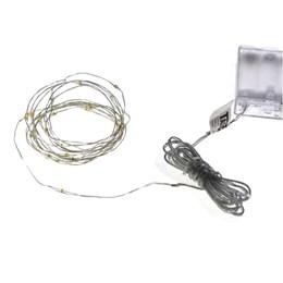 Cordão Luminoso 30 LED´s Arame 6500K 3M a Pilha [ 14010213-01 ] - Taschibra