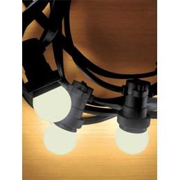 Cordão Luminoso LED 10 Lâmpadas Bolinhas 3000K Isolamento Emborrachado 10M [ 14010190-17 ] (Autovolt) - Taschibra