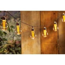 Cordão Luminoso LED 10 Lâmpadas Bulbo Vintage 3000K 4.8M [ 14010200-17 ] (Autovolt) - Taschibra