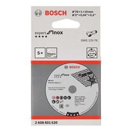 "Disco Corte 3"" 76 X 10.0 1,0mm 1T Inox 5PC [ 2608.601.520-000 ] - Bosch"