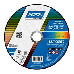 Disco Corte  4.1/2 115 X 22.2  1.0mm 2T Multicorte [ 66252846280 ] - Norton