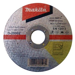 Disco Corte  4.1/2 115 X 22.2  1.2mm 1T Inox [ D-20002-10 ] - Makita