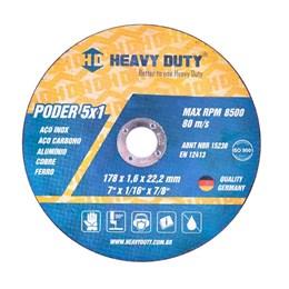 Disco Corte  4.1/2 115 X 22.2  1,6mm 2T Inox [ 109611 ] - Heavy Duty