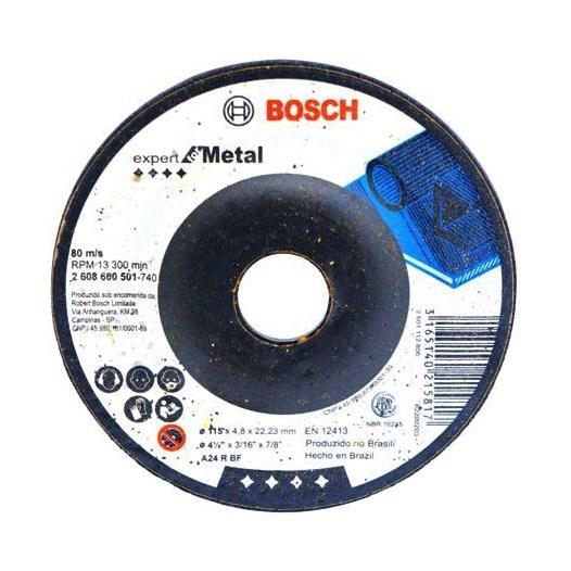 Disco Desbaste 4.1/2 115 X 22.2  4.8mm Metal Expert [ 2608600501 ] - Bosch