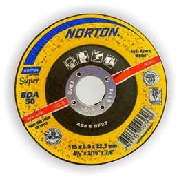 Disco Desbaste 4.1/2 115 X 22.2  5.0mm Metal [ BDA50 SUPER ] - Norton
